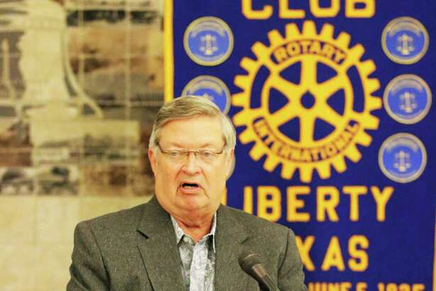 TVE board member Frank Jordan petitions the businessmen of the Liberty Rotary Club to be involved in providing vocational scholarships to applicants of all ages in the area. He believes it would be an avenue to dropping the unemployment rate in Liberty county.