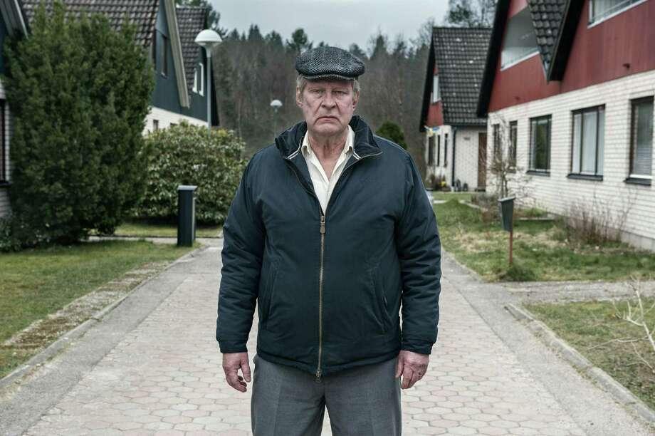"Rolf Lassgard in a scene from the movie ""A Man Called Ove"" directed by Hannes Holm. (Johan Bergmark/Music Box Films/TNS) Photo: Johan Bergmark, HO / TNS / Music Box Films"