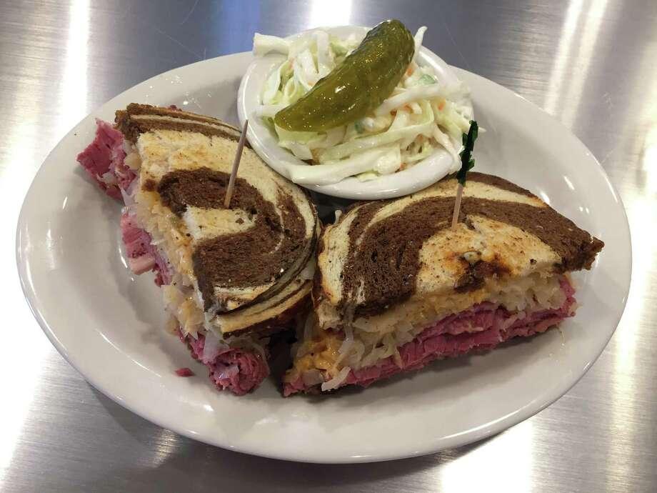 Egg cream, Reuben sandwich at Max and Louie's New York Diner Photo: Edmund Tijerina, Staff / San Antonio Express-News / San Antonio Express-News