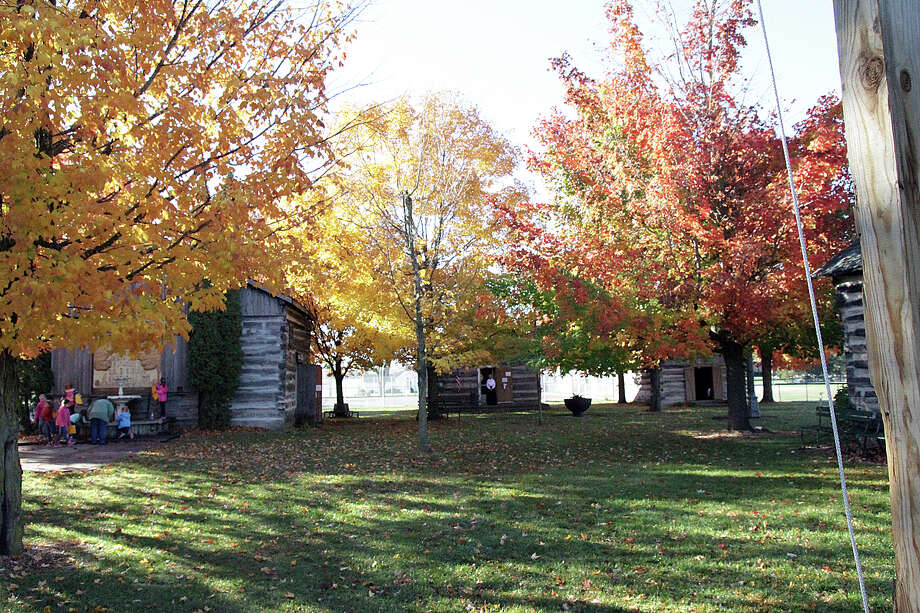 Two second grade classes from Bad Axe Elementary ventured to the Bad Axe Log Cabins this week. Photo: Dave Shane/Huron Daily Tribune