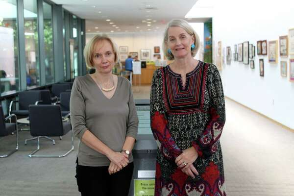 Margaret Creeth, programs manager at Wilton Youth Services, and Susan Bauerfeld, licensed clinical psychologist and ADHD coach at Wilton Library.