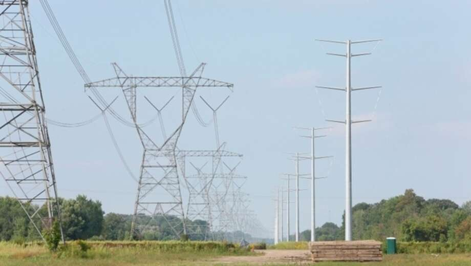 This ITC photo shows a power line in the Thumb.