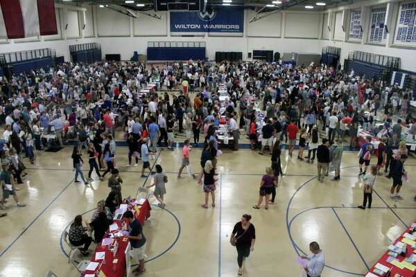 The 2016 annual College Fair Partnership at Wilton High School on Wednesday.