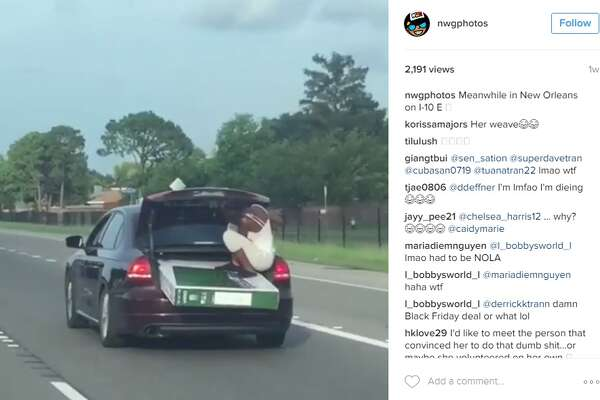 Instagram account, @nwgphotos, shared a clip of a unique moving technique that happened in New Orleans, according to the poster.
