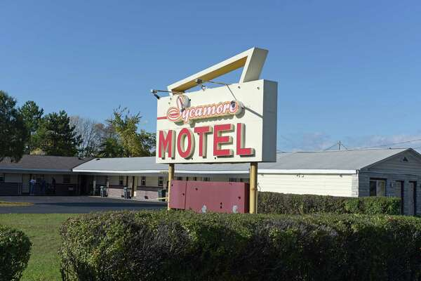 A view of theSycamore Motel on Route 9, seen here on Wednesday, Oct. 19, 2016, in Latham, N.Y.    (Paul Buckowski / Times Union)