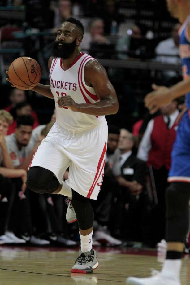 d4ae2526afa9 Houston Rockets guard James Harden (13) drives the ball up court against  New York