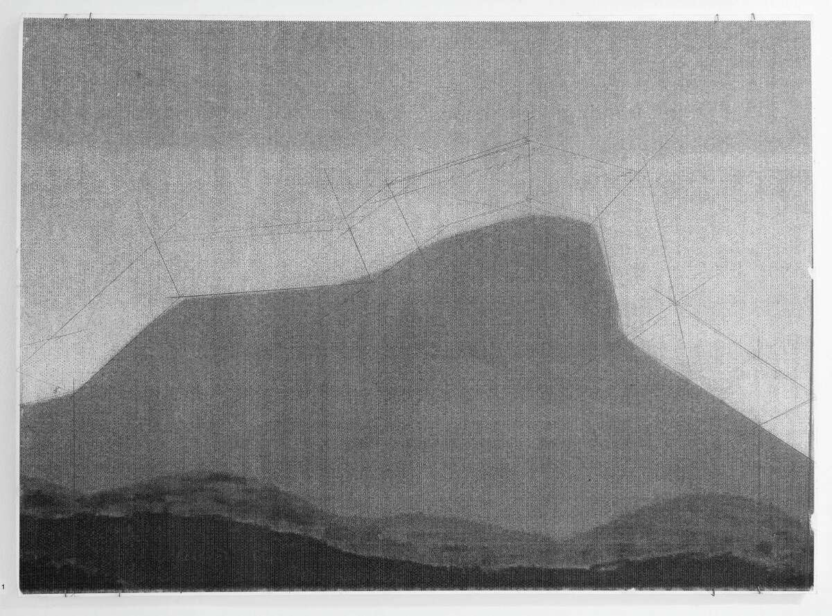 Gordon Oatman, Study for Camels Hump (pencil and xerography) 2016