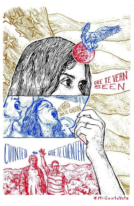 A Galería de la Raza poster encourages voting. Photo: Lenny Correa, Galer�a De La Raza: �Mi Gente Vota!