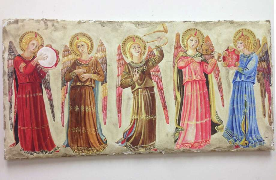 "Mico Di Arpo's ""Five Angels"" on display at the American Italian Heritage Museum."