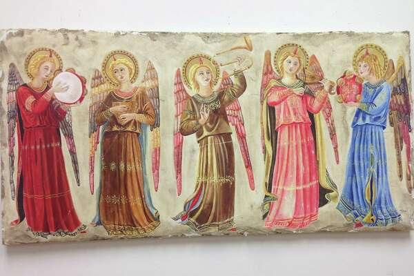 "Mico Di Arpo's ""Five Angels"" on display at the American Italian Heritage Museum."