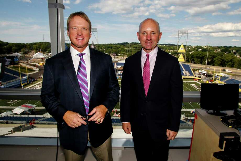 The ESPN duo of analyst Jon Gruden, left, and play-by-play man Sean McDonough will call their third Texans game of the season when the Raiders visit NRG Stadium for an AFC wild-card matchup Saturday afternoon.Click through the gallery to see John McClain's final 2016 NFL power rankings. Photo: Ron Schwane, FRE / FR78273 AP