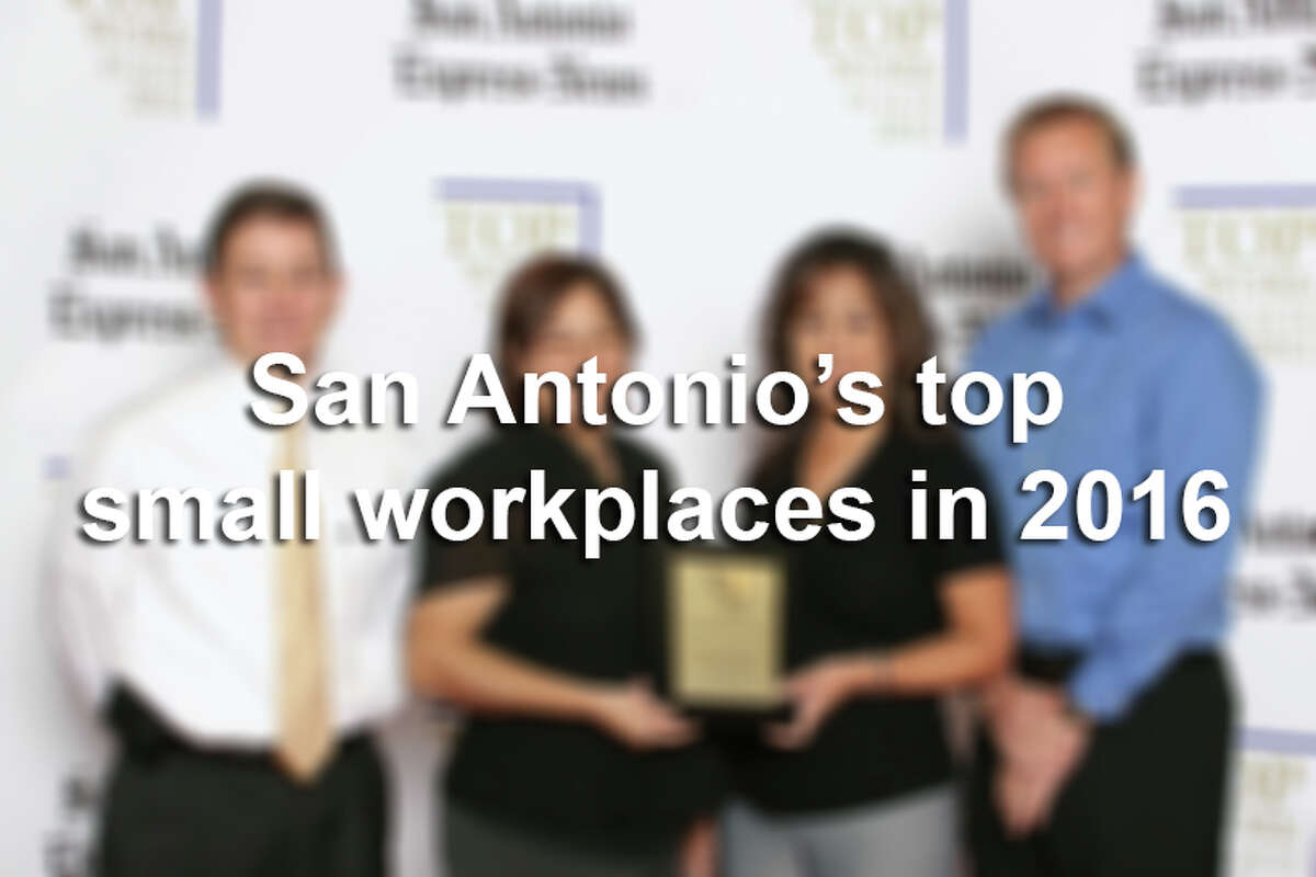 Click through the slideshow to see the top 50 small businesses in San Antonio, according to the Top Workplaces survey.