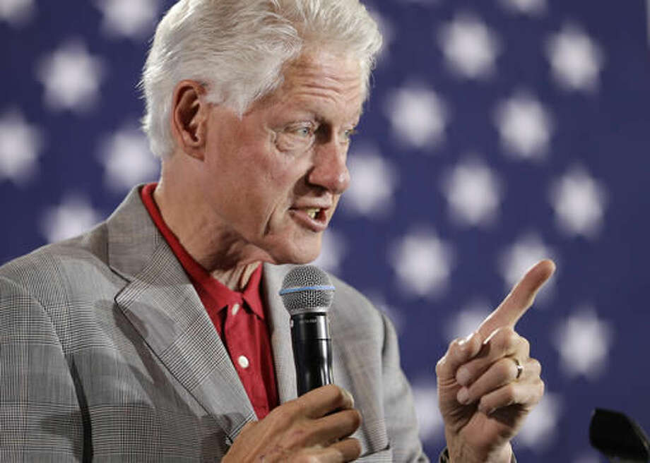 Former President Bill Clinton speaks while campaigning for his wife, Democratic presidential candidate Hillary Clinton, Wednesday, Sept. 14, 2016, in North Las Vegas, Nev. (AP Photo/John Locher)