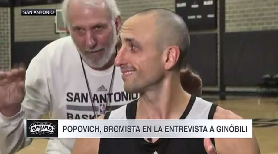 ESPN may have been interested in Manu Ginobili's contemplation on life and accomplishments, while Coach Gregg Popovich took it in jest.