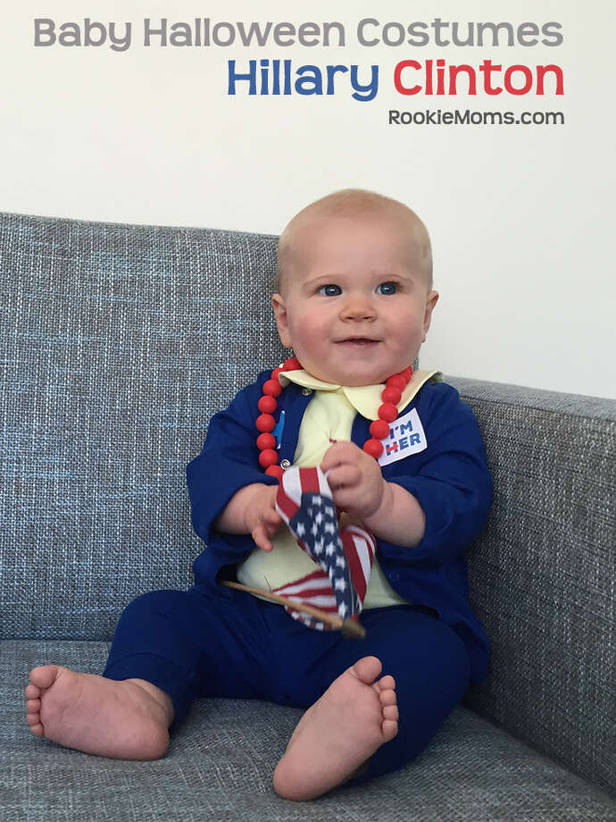 East Bay moms Heather Flett and Whitney Moss created this Hillary Clinton costume idea for babies for their parenting website Rookie Moms.  Photo: Heather Flett And Whitney Moss/Rookie Moms