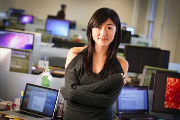 Jess Lee, co-founder of Polyvore, is seen in their Mountain View, Calif., office on Friday, Oct. 21, 2011.
