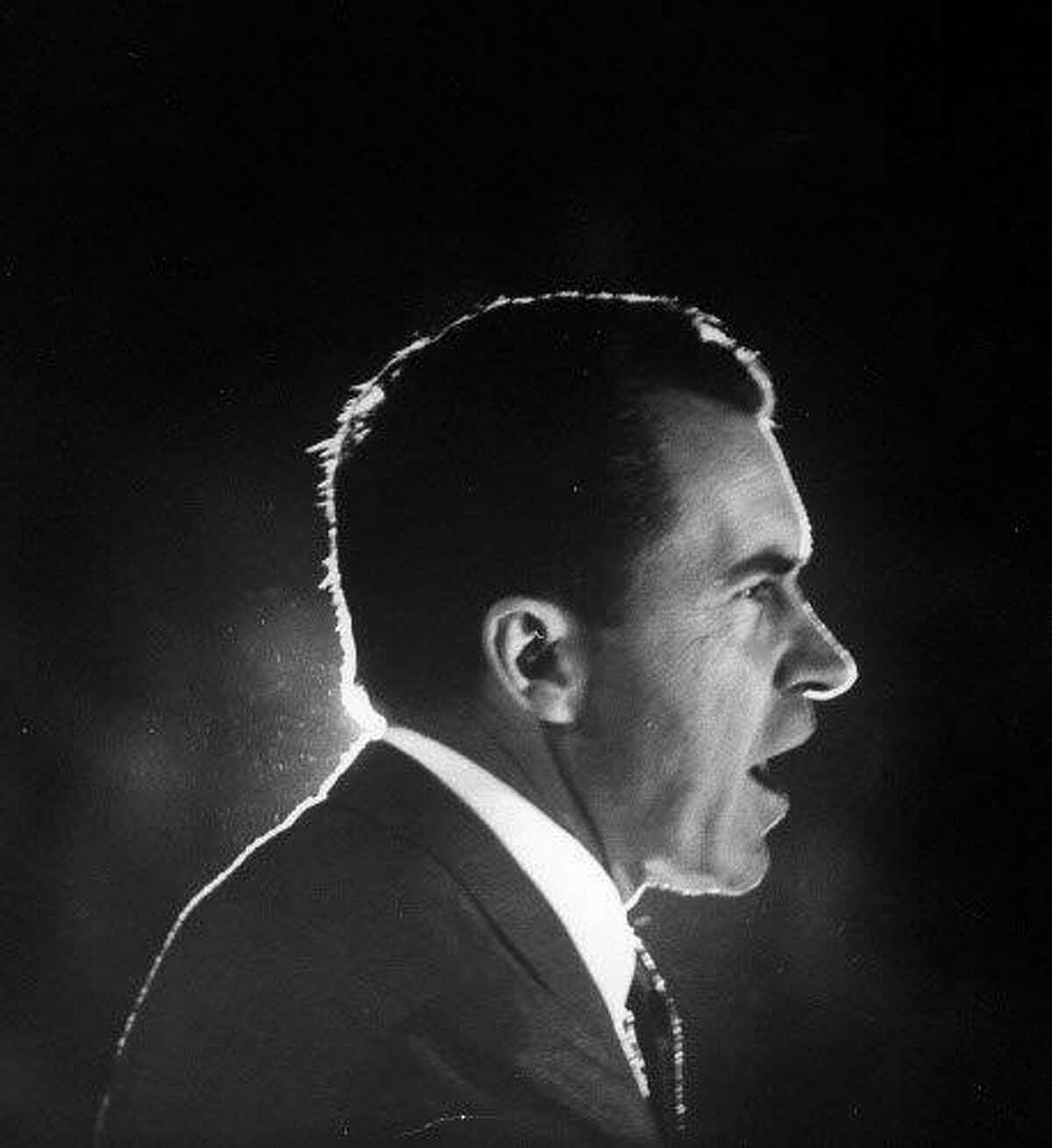 Vice President Richard M. Nixon campaigning in 1960.
