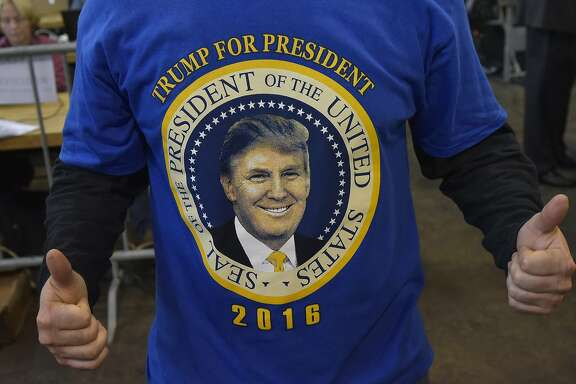 A supporter of Republican presidential nominee Donald Trump is seen during a rally at the Delaware County Fair in Delaware, Ohio on October 20, 2016. / AFP PHOTO / MANDEL NGANMANDEL NGAN/AFP/Getty Images