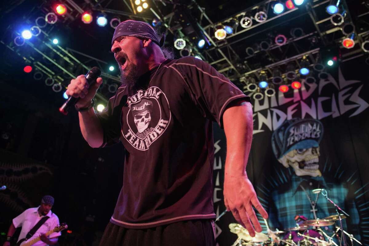 Led by frontman Mike Muir (shown at House Of Blues Chicago, Illinois in 2013), Suicidal Tendencies brings its World Gone Mad Tour for this sure-to-be deafening Fat Tuesday show, one of its three thrashing Texas dates. Named for the new album