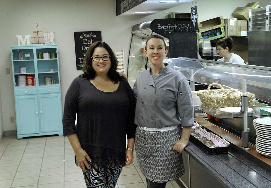 Andrea White, 51, of Southbury, left, and Anna Llanos, 45, of Danbury, are co-owners of Mothership Bakery and Cafe. Photo Wednesday, Oct. 19, 2016. Photo: Carol Kaliff / Hearst Connecticut Media / The News-Times