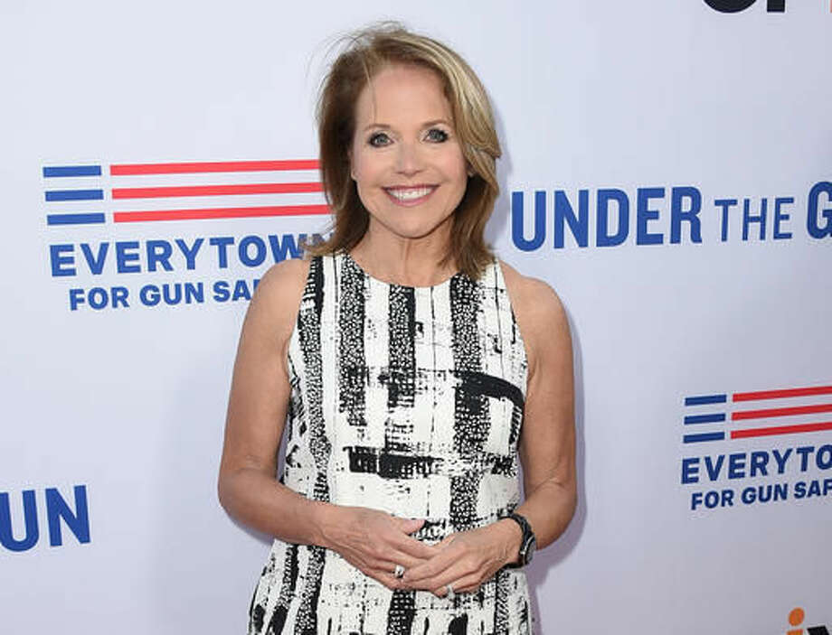"FILE - In this May 3, 2016 file photo, Katie Couric attends the LA premiere of her documentary ""Under The Gun"" in Beverly Hills, Calif. Virginia gun rights activists have filed a $12 million defamation lawsuit against Katie Couric and other makers of the documentary over an edit that misrepresented the activists' response to a question. (Photo by Jordan Strauss/Invision/AP, File)"