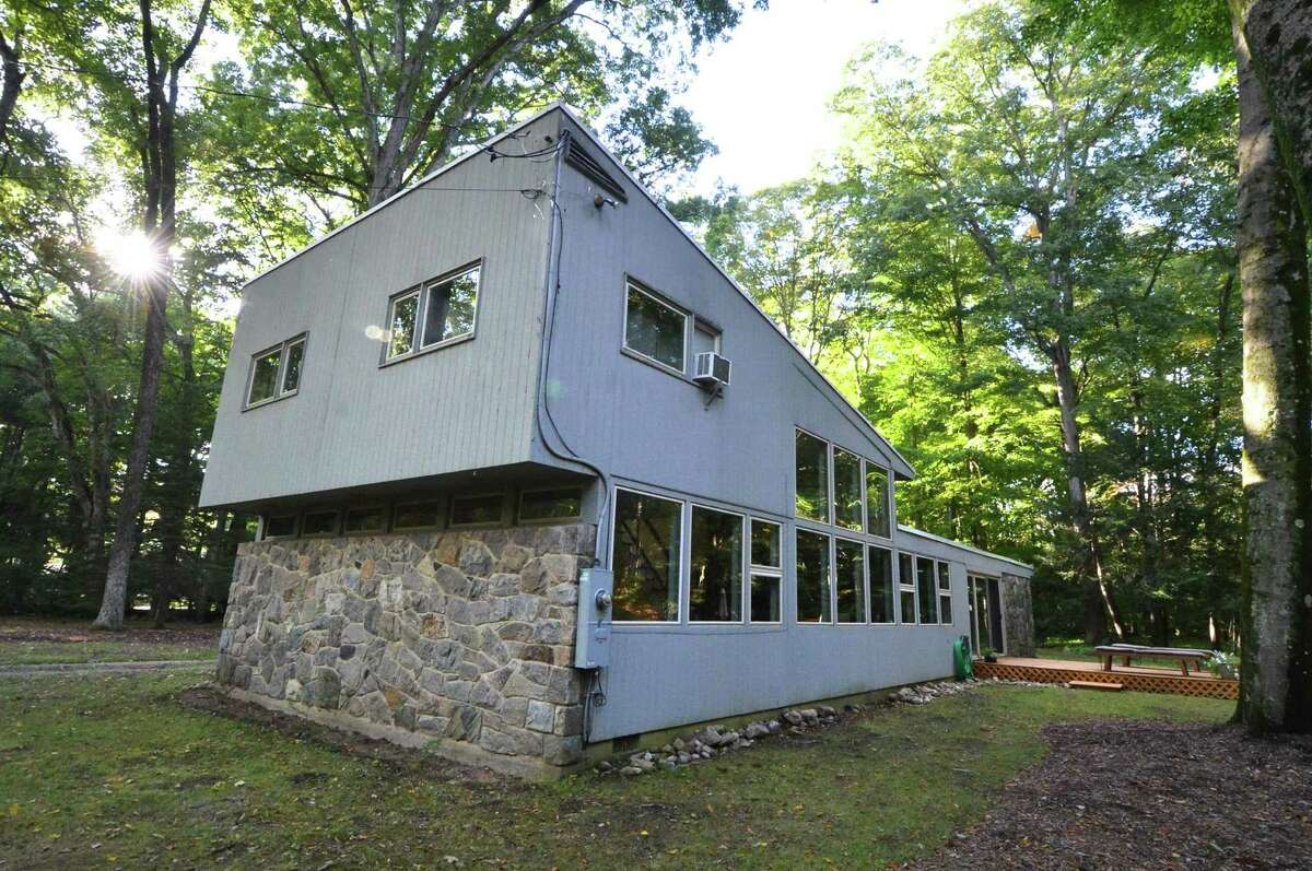 Mid-century modern home on the Silvermine River in Norwalk.