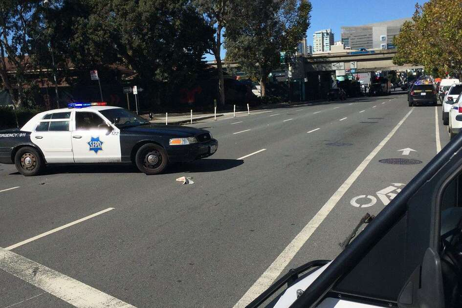 San Francisco Police have blocked off traffic near the area of Seventh and Bryant streets to investigate a suspicious incident at a tow yard in the area.