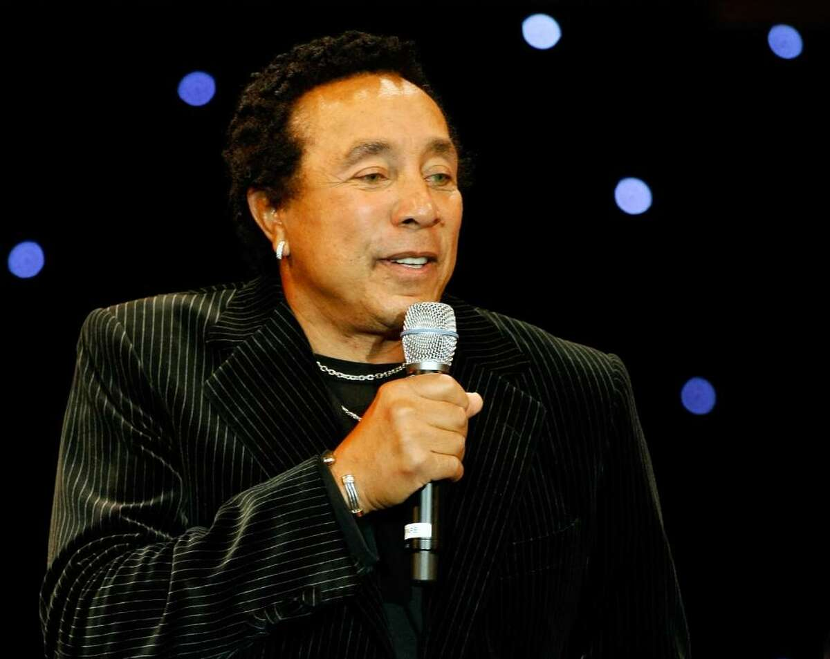 Motown legend Smokey Robinson will perform at the Palace Theater in Stamford on Friday, May 14. The event is a special concert to benefit Dana's Angels Research Trust. (Photo by Ethan Miller/Getty Images)