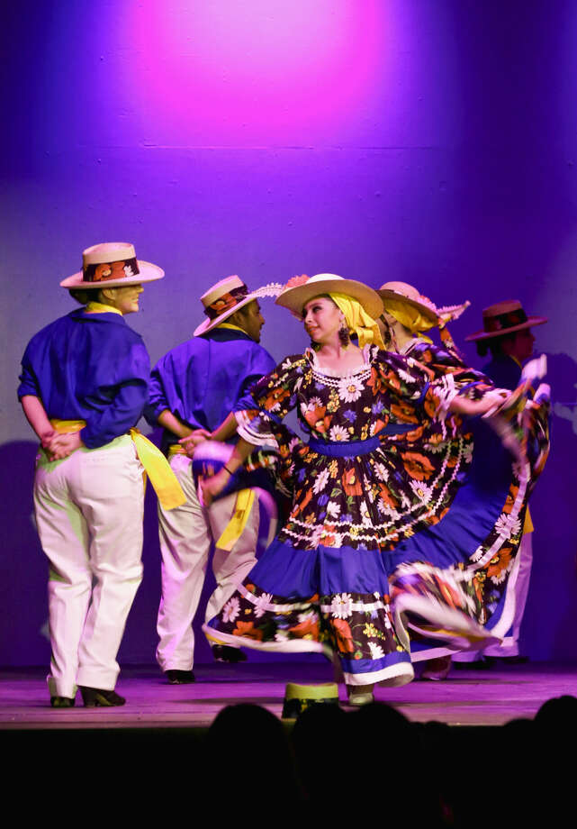 In this June 8, 2014 file photo, members of the Gabriela Mendoza-Garcia Ballet Folklorico perform on stage during the first-ever Mexico Lindo concert held at the Laredo Little Theatre. (Photo by Victor Strife/Laredo Morning Times)