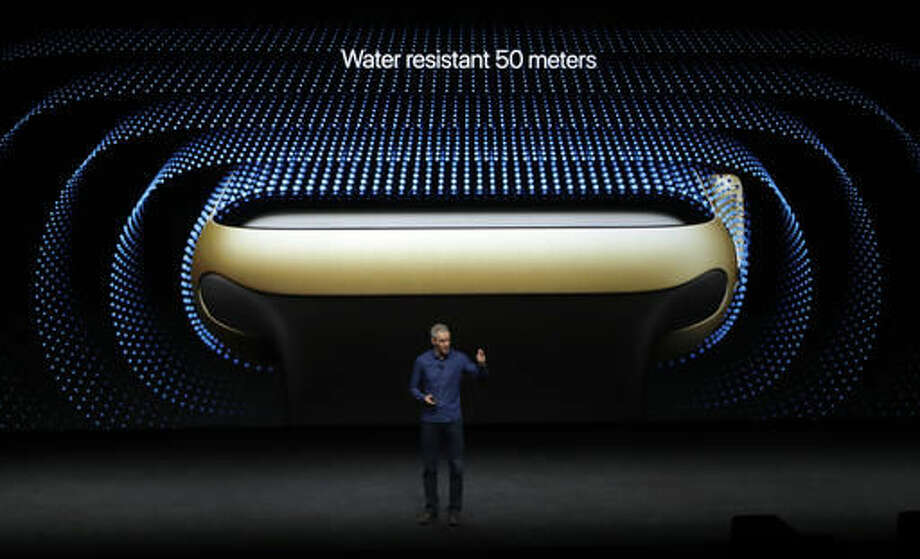 Jeff Williams, Apple's chief operating officer, speaks during an event to announce new products on Wednesday, Sept. 7, 2016, in San Francisco. (AP Photo/Marcio Jose Sanchez)
