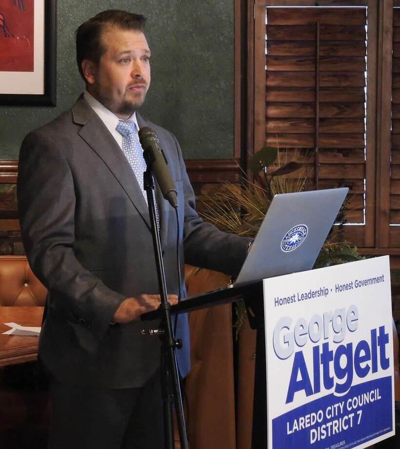 George Altgelt announces his bid for District 7 city councilman on Tuesday. (Courtesy photo)