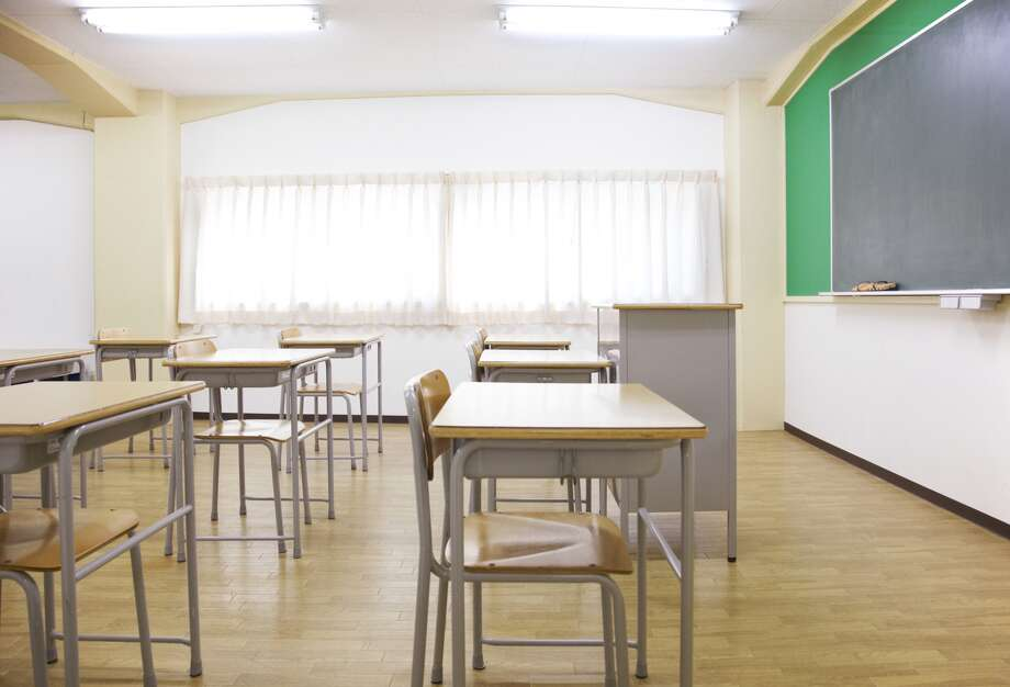 A classroom is shown in this Getty Images stock photo.