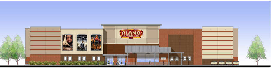 Shown is an artistic rendering of the front elevation of the Alamo Drafthouse Cinema in Laredo. Alamo Drafthouse has become the title sponsor for the upcoming mud run.