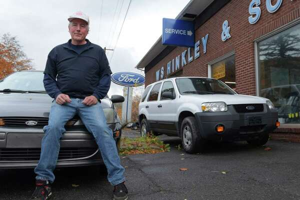 Ed Hinkley, co-owner of W S Hinkley and Sons Ford dealership poses for a photo outside his dealership on Thursday, Oct. 20, 2016, in Grand Gorge, N.Y.    (Paul Buckowski / Times Union)