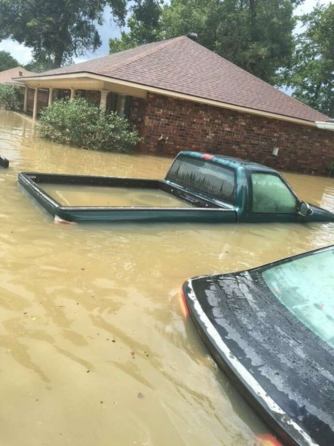 The home of Stanford's Malik Antoine, a redshirt freshman football player,  was severely damaged by flooding in Louisiana this past summer. Photo: Karen Thomas, Photos Courtesy Karen Thomas