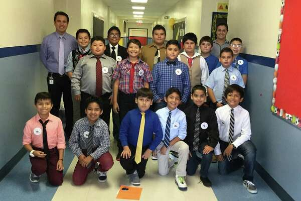 A group of Villarreal Elementary School students in the Young Gentlemen's Club are learning respect, participating in community service and planning a special luncheon for their mothers.