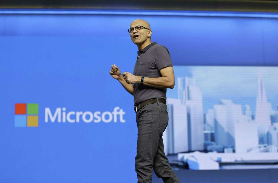 CEO Satya Nadella has been investing in data centers and striking partnerships to bolster sales of Microsoft's main corporate cloud products, Azure and Office 365 — internet-based versions of the popular productivity apps, email and collaboration tools. Photo: Associated Press /File Photo / Copyright 2016 The Associated Press. All rights reserved. This material may not be published, broadcast, rewritten or redistribu