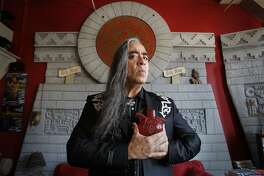 Celebrated performance artist Guillermo Gomez-Pena in his San Francisco, Calif. studio on Tuesday Oct. 14, 2008.
