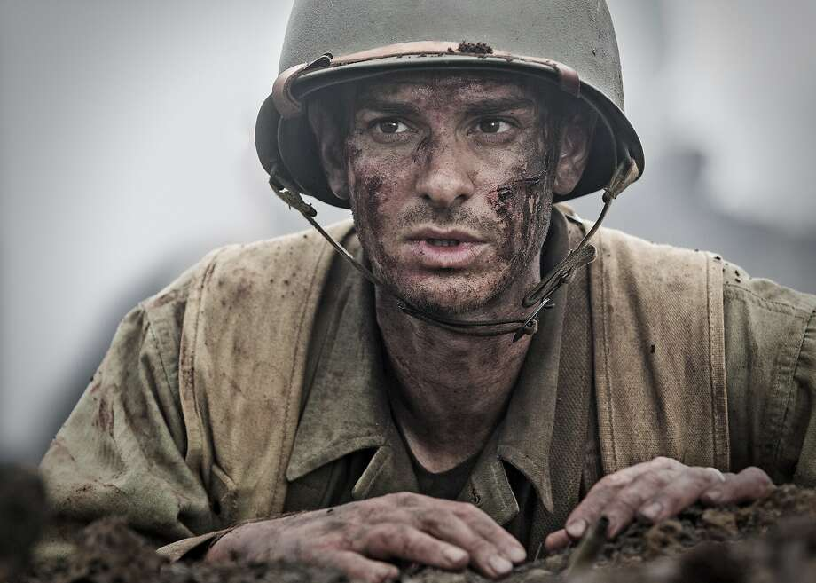 "Andrew Garfield stars as a conscientious objector who winds up in the thick of battle in ""Hacksaw Ridge."" Photo: Lionsgate"