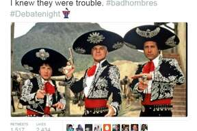 "Donald Trump's ""bad hombres"" remark at Wednesday's presidential debate sparked all sorts of social media memes, most notably those featuring the Three Amigos from the 1986 film of the same name."
