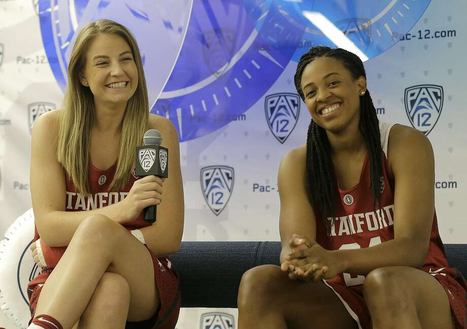 Stanford's Karlie Samuelson (left) and Erica McCall return to lead the Cardinal, who are ranked No. 2 in the preseason poll. Photo: Jeff Chiu, Associated Press