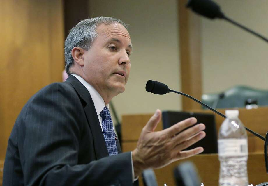 FILE - In this July 29, 2015, file photo, Texas Attorney General Ken Paxton speaks during a hearing in Austin, Texas. Photo: Eric Gay, Associated Press