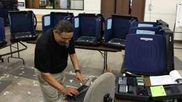Bexar County Elections Department uses electronic voting machines. Early voting has started for the March 6 primary election.