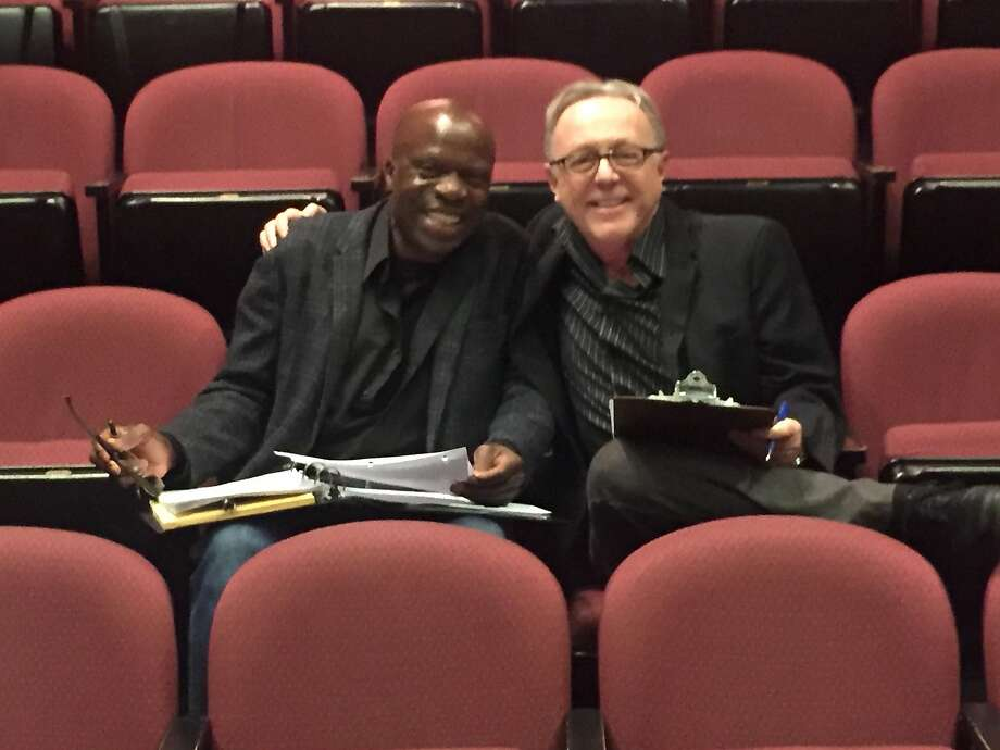 """L. Peter Callender (left) is directing """"Safe House"""" for Tom Ross (right), Aurora Theatre Company artistic director. Photo: Courtesy Aurora Theatre Company"""