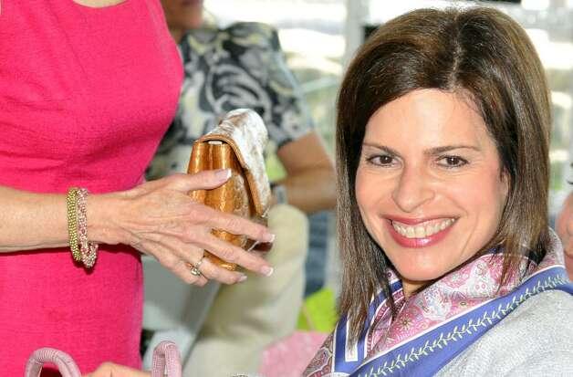 Leora Levy Of Greenwich Smiles After Her Winning Bid On The Phil Luan Grath