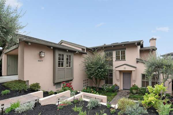 6077 Contra Costa Road in Oakland's Upper Rockridge community is a five bedrom built by architect Peter David Gilbert in the mid-1990s.