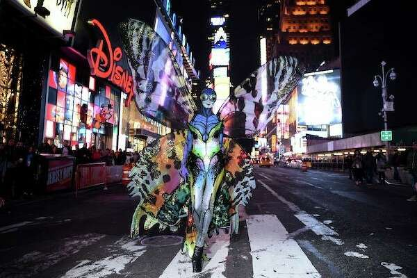 Heidi Klum Pre-Halloween Party Exclusive Photo Opp in Time Square on October 31, 2014 in New York City.