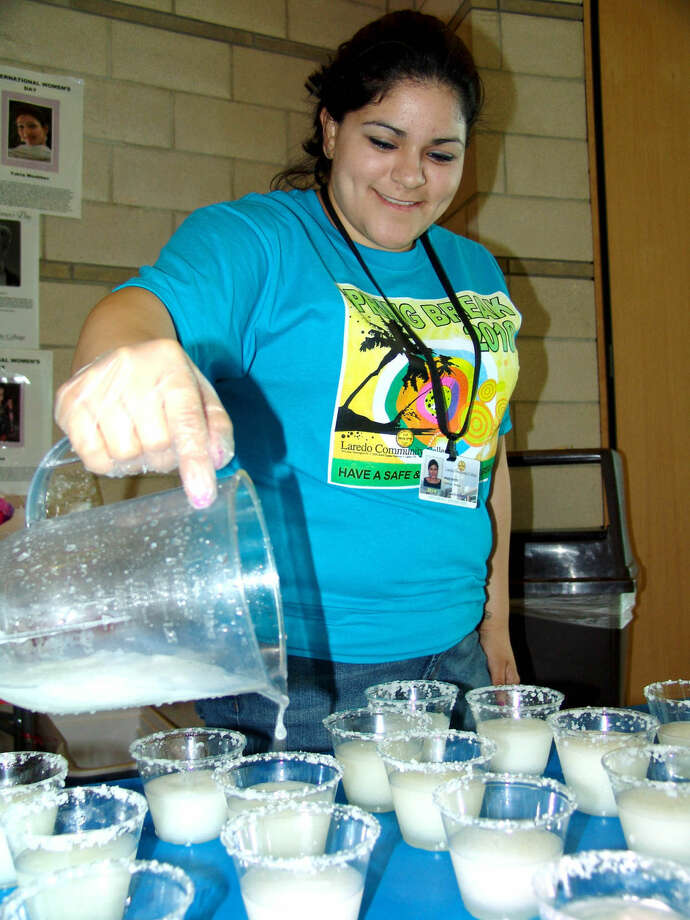 In this March 2010 file photo, LCC student Clarissa Molina prepares mocktails during the college's Safe and Sober Pre-Spring Break Celebration. This year's celebration will be held Wednesday at the Fort McIntosh campus and Thursday at the South Campus.