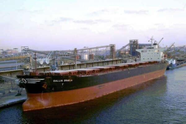 Gallia Graeca, a 735-foot bulk carrier, pictured in a file photo.