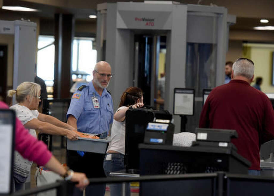 In a Sept. 24, 2016 photo, renovations to the security checkpoint area at the Sioux Falls Regional Airport continue. In 2009, the Sioux Falls Regional Airport captured about 55 percent of market share. The figure has increased to 86 percent. (Jay Pickthorn/Argus Leader via AP)